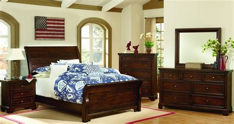 bedroom furniture virginia hanover cherry youth sleigh bedroom set from virginia