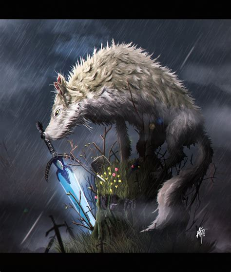 darksouls sif the great grey wolf by kxg witcher on