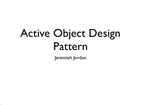 visitor pattern antipattern active object design pattern