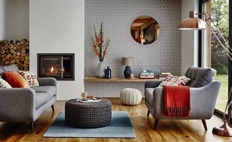 Grey Blue Orange Living Room by The Looks On Trend Homes Will Be Wearing This Autumn