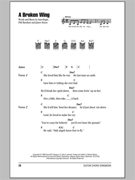 lyrics to by martina mcbride a broken wing by martina mcbride guitar chords lyrics
