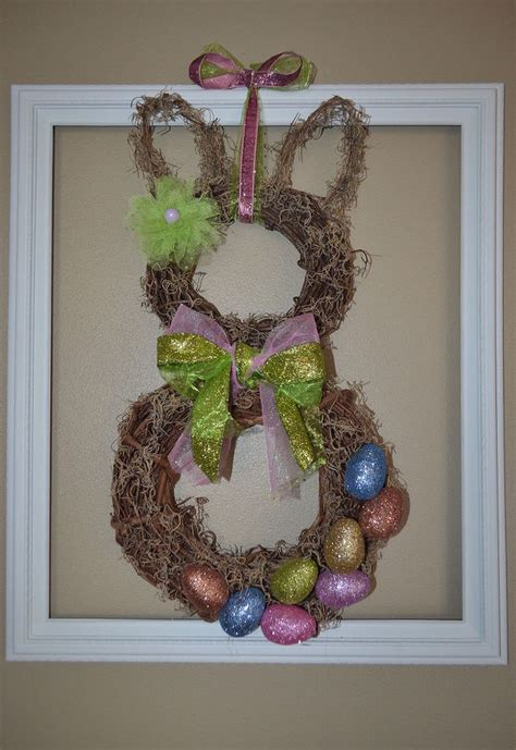 how to make easter decorations for the home spring easter bunny wreath for less than 10 hometalk