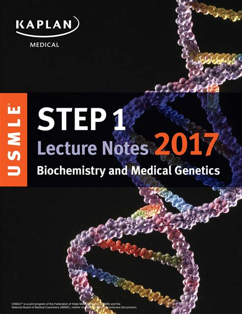 usmle step 1 lecture notes 2018 biochemistry and genetics kaplan test prep books usmle step 1 lecture notes 2017 biochemistry and