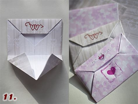 Folding Paper Into An Envelope - graphics illustrations how to make a s day