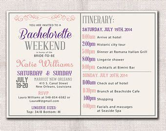 Bridal Shower Itinerary Template by Image Result For Bachelorette Itinerary Template Pine