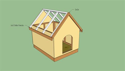 free dog house blueprints dog house plans free howtospecialist how to build step by step diy plans