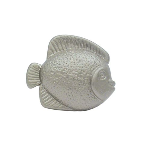 Fish Cabinet Knobs by Whitehaus Collection 1 5 8 In Satin Nickel Fish Shaped