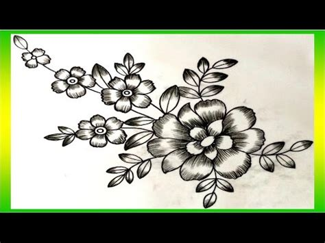 flower design youtube flower design with pencil shading youtube