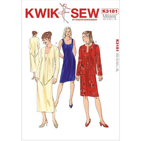 dress pattern kwik sew misses dress and jacket kwik sew sewing pattern no 3181