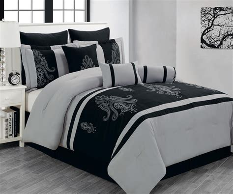 black and grey bedding sets image black and gray comforter sets