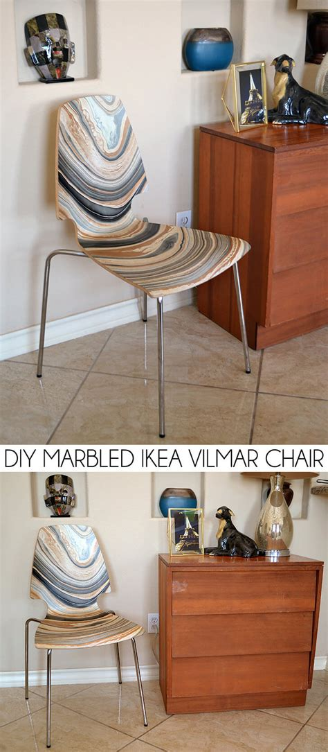 roof above us ikea hacking make something old into diy marbled ikea vilmar chair dream a little bigger