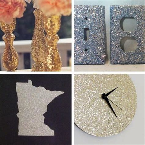 crafts glitter home decor and home on