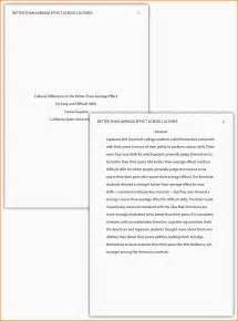 apa style paper template 9 exle of apa style paper nypd resume