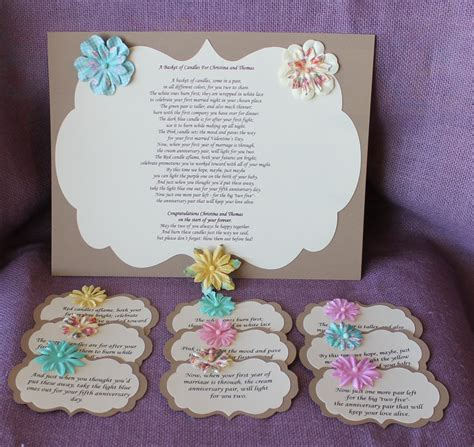 Candle Poem For Bridal Shower by Wedding Shower Candle Poem Tag Set Brown Bridal Candle
