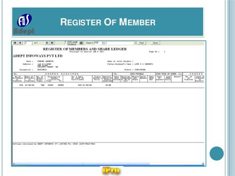 register of members template ipro software for company statutory e forms registers