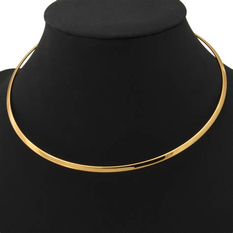 Choker Penta Gold Rings Choker aliexpress buy gold choker necklace jewelry vintage platinum 18k real gold