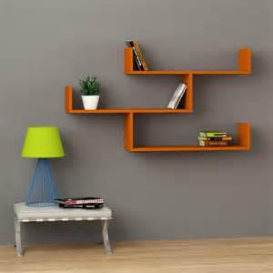tibet wall shelf orange contemporary display and wall