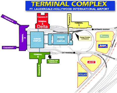 terminal map fll fort lauderdale airport