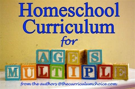 choosing homeschool curriculum for ages i