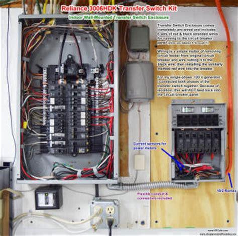 reliance transfer switch wiring diagram reliance controls 3006hdk transfer switch kit installation