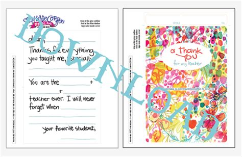student thank you card template fill in thank you free printable