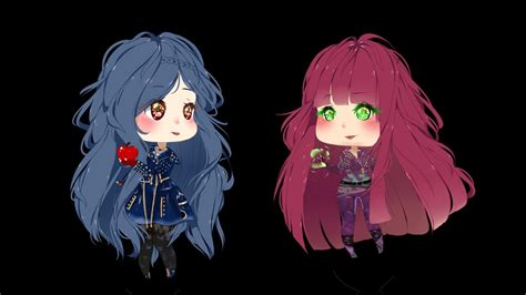 anime mal and evie descendants 2 mal and evie speedpaint youtube