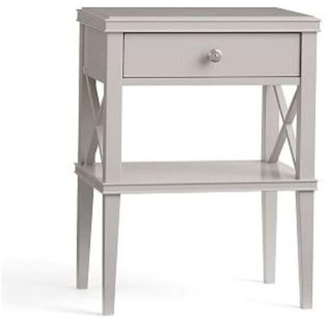 Narrow White Nightstand Clara Lattice Wood Narrow Bedside Table Sky White