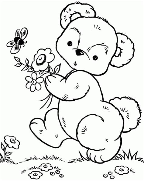 small bear coloring page little bear coloring page coloring home