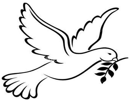 peace dove image az coloring pages