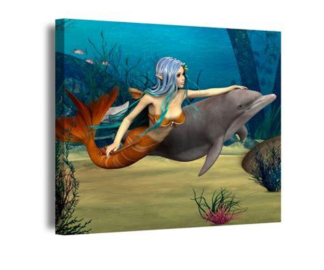 bild kinderzimmer meer leinwand 1tlg meerjungfrau delfin ozean meer kinderzimmer