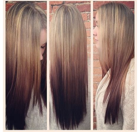 reverse ombre hair photos reverse ombr 233 great transition hair pinterest