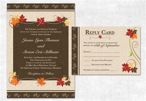 fall printable wedding invitation templates 42 best images about fall free printables on pinterest