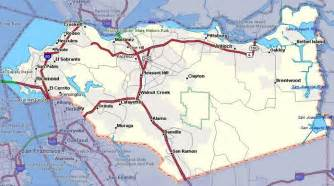 map of martinez california contra costa county the county of contra costa california