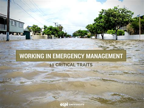 Mba Emergency Management by Working In Emergency Management 10 Critical Traits
