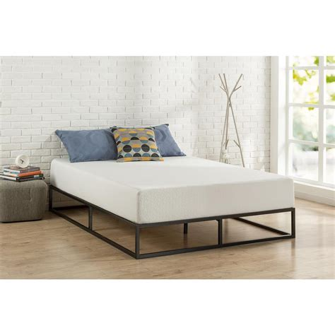 Modern Metal Bed Frames Zinus Modern Studio Platforma King Metal Bed Frame Hd Mbbf 10k The Home Depot