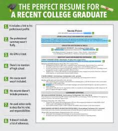 Best Resume Out Of College by Excellent Resume For Recent Grad Business Insider