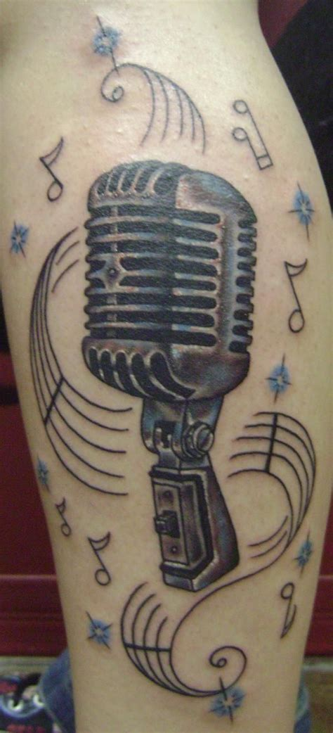 microphone tattoo pinterest microphone tattoos for women shure mic tattoos
