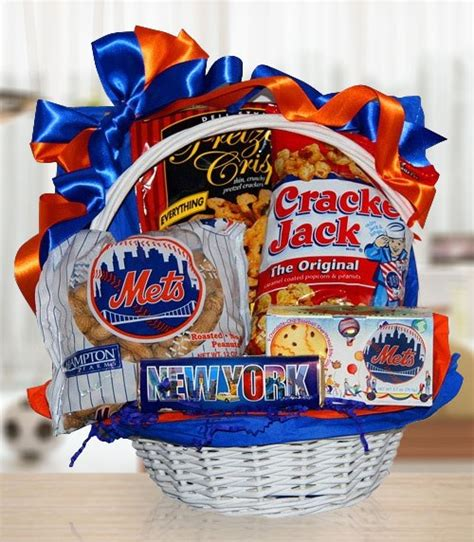 gifts for mets fans for mets fans gift basket of snacks by amerigiftbaskets com