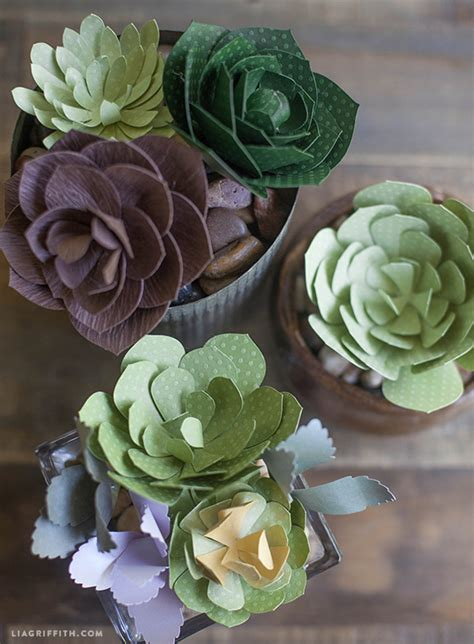 Patterns And Tutorial For Simple Paper Succulents Paper Cactus Template