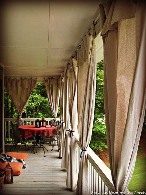 porch curtains  pinterest outdoor curtains patio curtains  drop cloth curtains