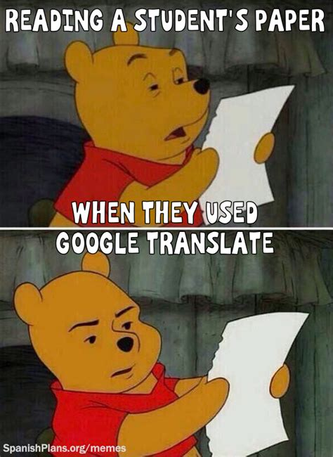 Translate Meme - spanish teacher memes spanishplans org