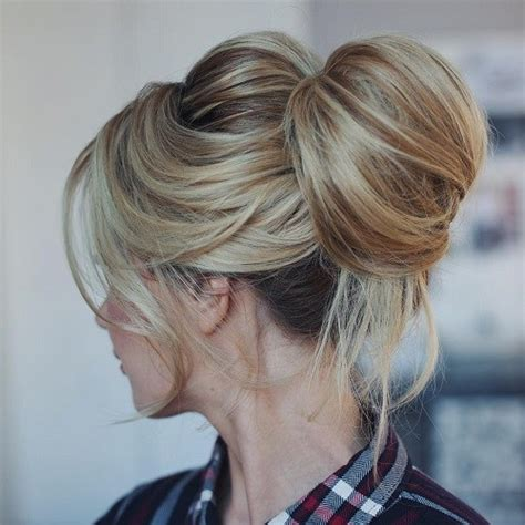 hairstyles blonde mesh chignon best 35 top knot bun ideas on therighthairstyles