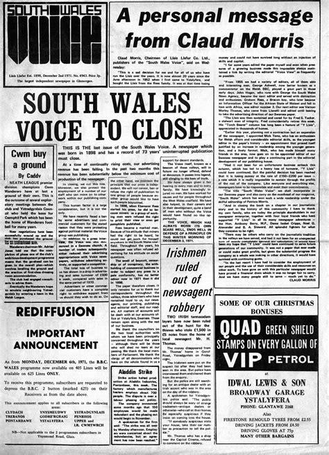 A News Paper - llais llafur newspaper