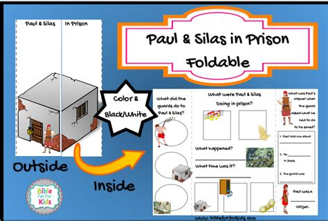printable games for jail bible fun for kids paul silas in prison