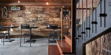 cucine rustico moderno a wine bar that combines industrial and rustic styles