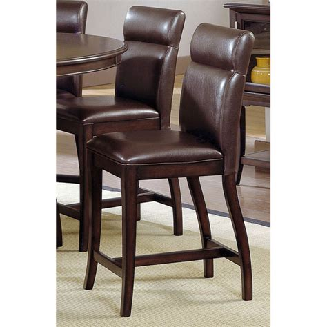 doyle counter stool brown dcg stores nottingham 24 quot counter stool brown leather dcg stores