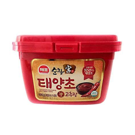 Sajo Gochujang Sambal Pasta Korea Pepper Paste jual sajo gochujang pepper paste 500 g harga kualitas terjamin blibli