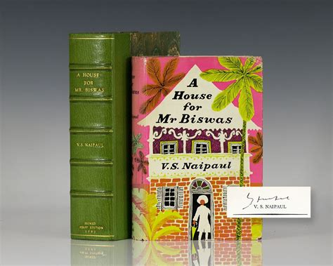 themes a house for mr biswas house for mr biswas v s naipaul first edition signed
