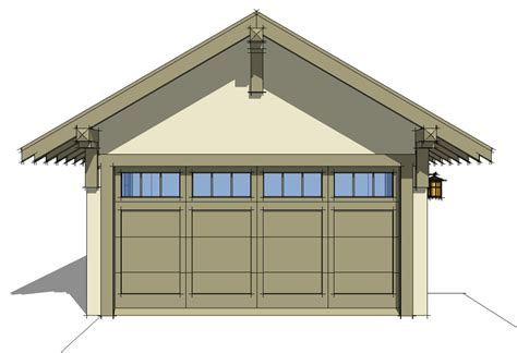 craftsman style garage plans craftsman style detached garage plan 44080td cad