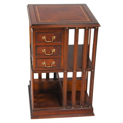 Revolving Bookcase by Leather Top Revolving Bookcase Niagara Furniture Free